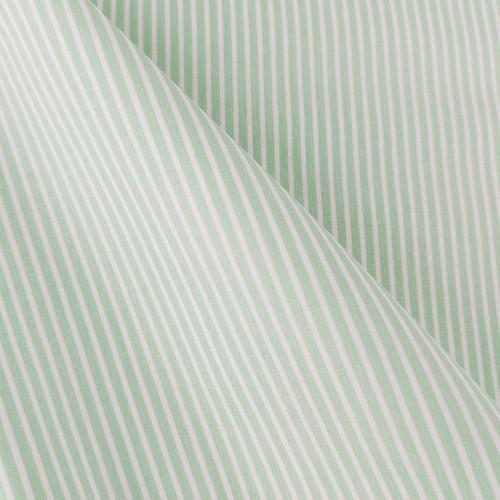 Simple Stripes, Spring Green:  Cotton Poplin