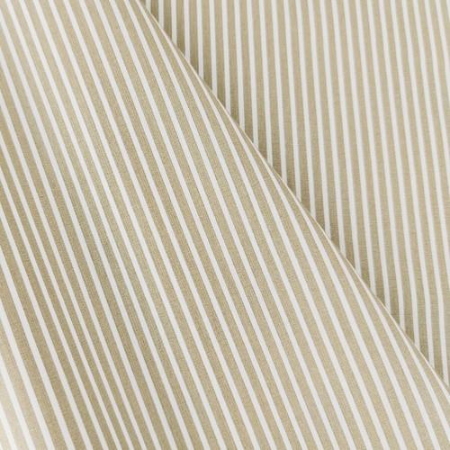 Simple Stripes, Sand:  Cotton Poplin