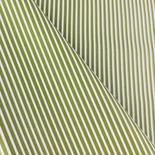 Simple Stripes, Olive Green:  Cotton Poplin