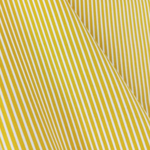 Simple Stripes, Dijon Yellow:  Cotton Poplin