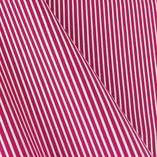 Simple Stripes, Cherry Pink:  Cotton Poplin