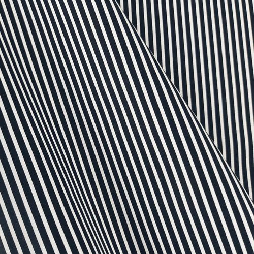 Simple Stripes, Black:  Cotton Poplin
