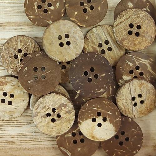 Coconut Circle Button: 20 mm