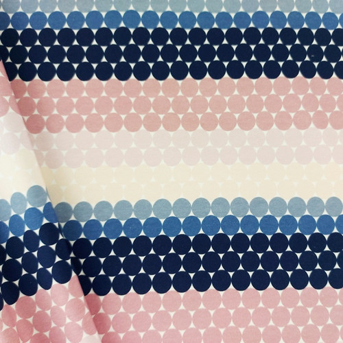 Dotted Stripes:  Brushed French Terry