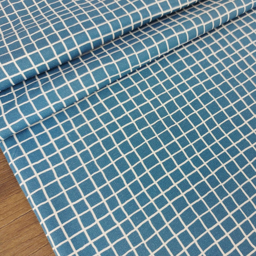 Picnic Table, Ocean Blue:  French Terry