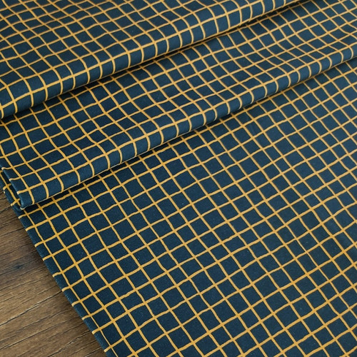 Picnic Table, Black & Ochre:  French Terry