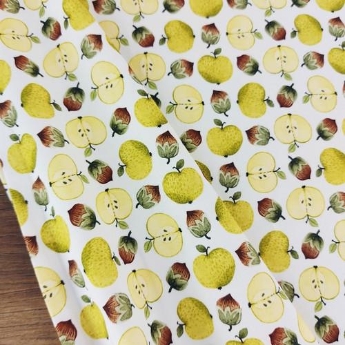 Autumn Apples, White:  Jersey Knit