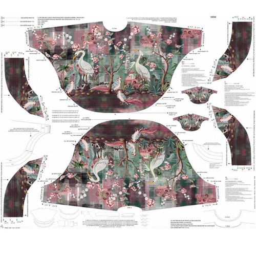 Charlotte: Digitally Printed French Terry Poncho, Stenzo  (approximately 125 cm)