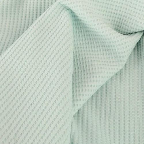 Waffle Cotton Knit: Soft Pistachio