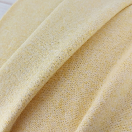 Recycled Brushed Jersey: Maize