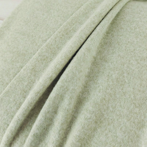 Recycled Brushed Jersey: Mellow Green