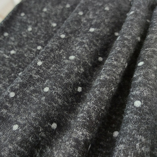 Cuddly Dots, Graphite Grey: French Terry
