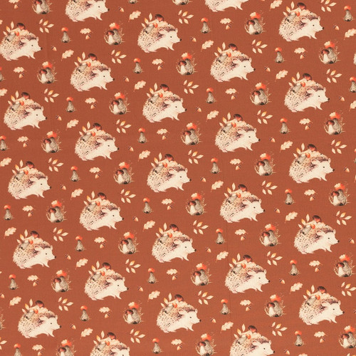 Hedgehog:  Digitally Printed Cotton Poplin