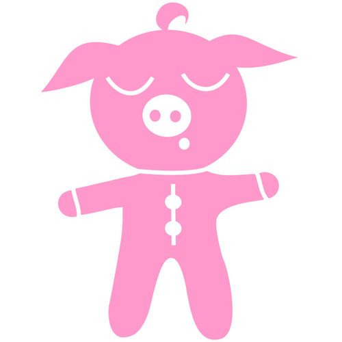 It's a Girl!  Baby Pig Iron-on Transfer.  $4.50