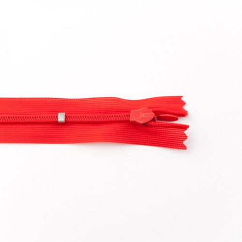Adjustable Length Invisible Zipper: Red (25 cm)
