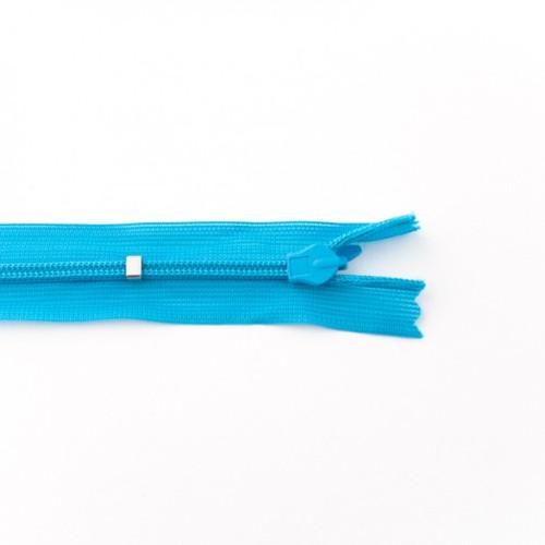 Adjustable Length Invisible Zipper: Aqua (25 cm)