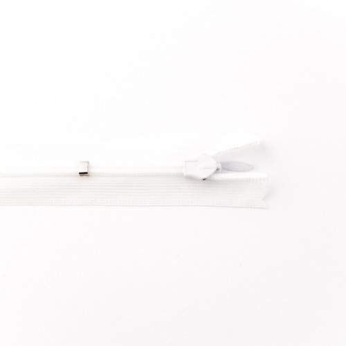 Adjustable Length Invisible Zipper: White (25 cm)