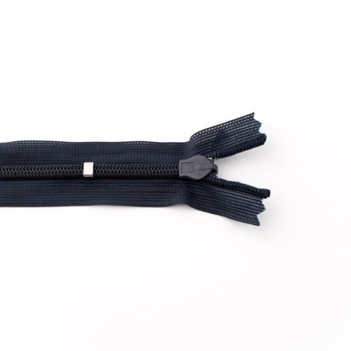 Adjustable Length Invisible Zipper: Navy (25 cm)