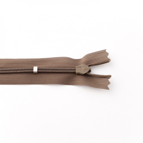 Adjustable Length Invisible Zipper: Taupe (25 cm)