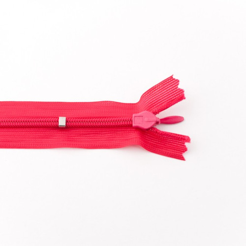 Adjustable Length Invisible Zipper: Fuchsia (25 cm)