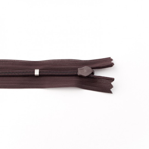 Adjustable Length Invisible Zipper: Brown (60 cm)