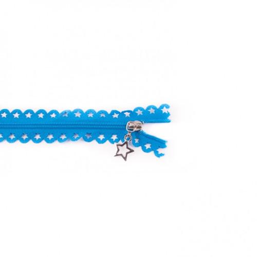 Star Cut Zipper: Aqua (25 cm)