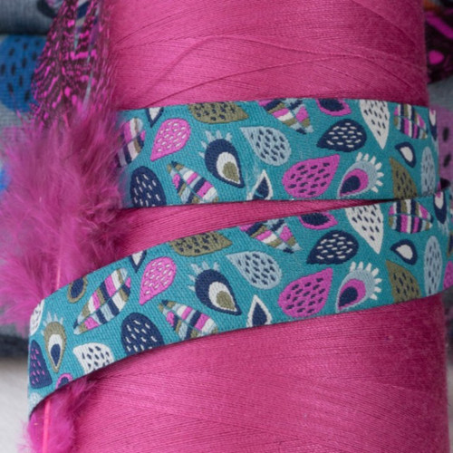 Leaves, Turquoise: Farbenmix Ribbon