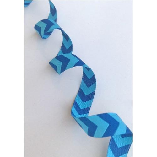 Chevron, Turquoise & Petrol:  Farbenmix Ribbon