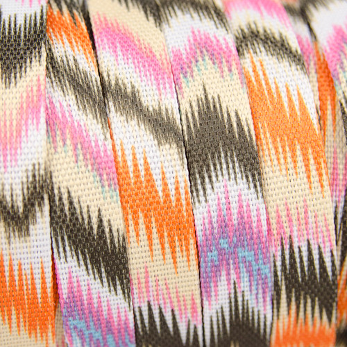 Flat Cord: Orange & Khaki