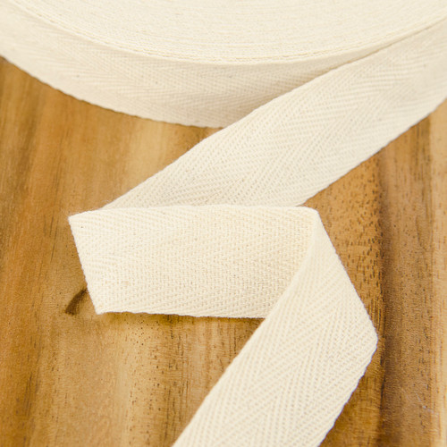 Cotton Twill Tape: 2.5 cm