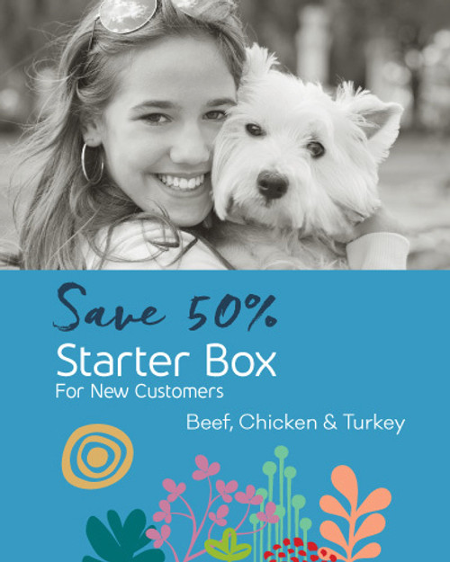 1st Time StarterBox - Raw Dog Food - Beef, Turkey, & Chicken (9lbs)