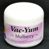 Vac-Yum Mulberry Vacuum Scent. Refreshing scent for your vacuum. Place 1 tablespoon of VacYum inside a new vacuum bag. If you have a bagless vacuum, you can place a tablespoon of Vac Yum in the dirt cup. Sold each in a 1.8 ounce jar (51g).