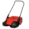 note: Similar to Firmhorn models but Bissel models are red. Push powered, gear driven, three brush, light weight, wide area sweeping machine with 31 inch / 77 cm sweeping width, 13.2 gallon / 50 liters debris container, 8 height settings, 4 years brush wear warranty.