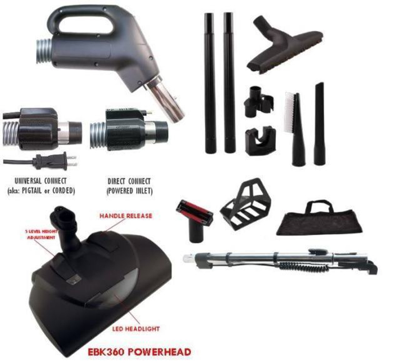 Central Vacuum Accessory Set