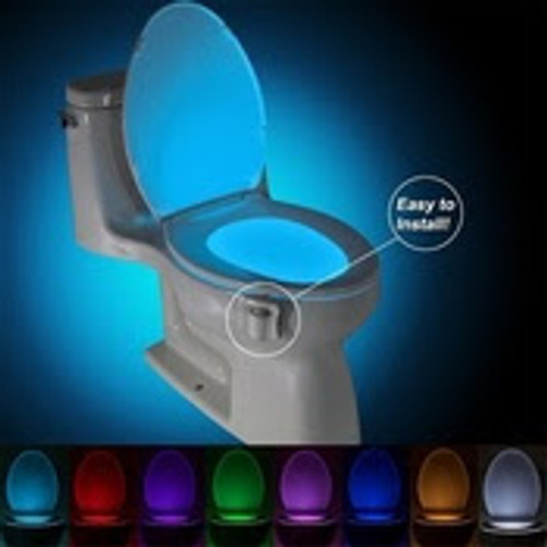 LIGHTBOWL is an excellent gadget! Point the sensor toward your entry passage and you'll never need to use the light switch in the middle of the night to take care of business again. LIGHTBOWL uses 3 AAA batteries. UV Sterilizer Toilet Night Light 8 Colors Changing Motion Activated Led Toilet Seat Light with Aromatherapy for Any Toilet.