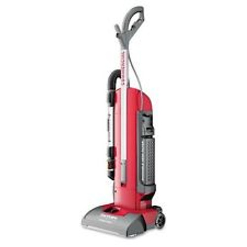 """Sanitaire Commercial Duralux 2 Motor Upright Vacuum Cleaner with Tools and 11.5 Amp Motor, 13"""" Cleaning Path. Tools on boards provides operators with the conveniences of a canister yet an easy to use upright."""