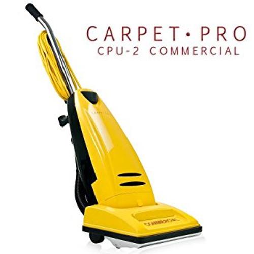 Carpet Pro CPU-2 Commercial Vacuum Carpet Pro H.D. Commercial No Tools Metal Handle, Metal Bottom Plate, 40 ft cord, Metal Brushroll, 1 yr warranty.