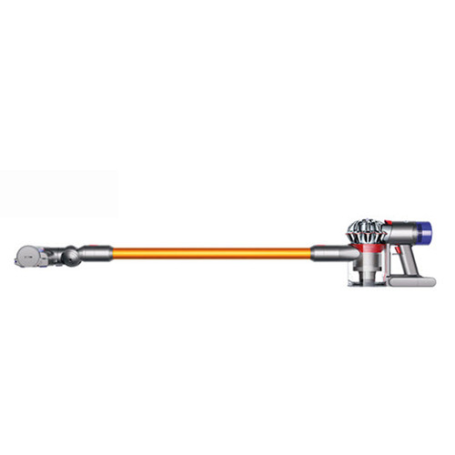 Dyson Vac: CORDLESS V8 ABSOLUTE SV10 IRN/SPRNICK/YEL Works up to 40 minutes of fade free suction. Quick release tools. 32 PER SKID Dyson digital motor V8. Mini soft dusting brush. Strong Lithium-ion battery Charge time 5 hours. Light 5.8 lbs. 2 Year warranty