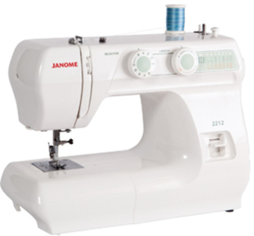 The Janome 2212 is a quality entry level model offered at a fantastic price! This mechanical machine features 12 built-in stitches and a four-step buttonhole. Dial pattern selection and stitch width and length adjustment ensures ease of use. Great features like a free arm and drop feed make it versatile for all types of sewing. Lightweight and easy to use, this is the perfect machine for a beginner and the price is just right.