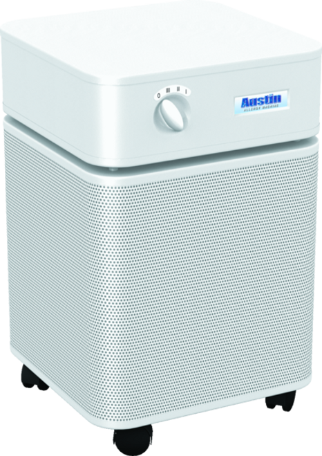 » Allergy Machine™  - WHITE Maximum protection for people with asthma and allergies. The Austin Air Allergy Machine™ has been developed specifically to offer maximum protection for those suffering from asthma and allergies. It effectively removes allergens, asthma irritants, sub-micron particles, chemicals and noxious gases, providing immediate relief for asthmatics and allergy sufferers.