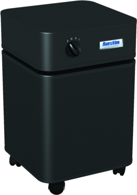 HeathMate Standard - BLACK For your everyday air quality concerns. The Austin Air HealthMate™ series removes a wide range of airborne particles, chemicals, gases and odors and will significantly improve the quality of air in your home.