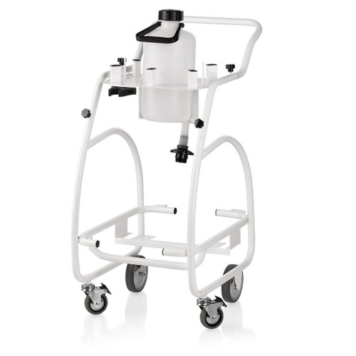 The Brio Pro 1000CT trolley provides a convenient moveable storage system for the 1000CC professional steam cleaner and includes a 1.3 gallon (5L) additional water capacity that connects directly to the steam cleaner.