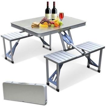 Set Tavoline Portative me 4 Karrige si Valixhe