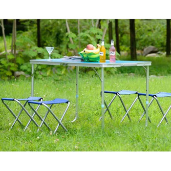 Tavoline Portative me 4 Karrige per Piknik