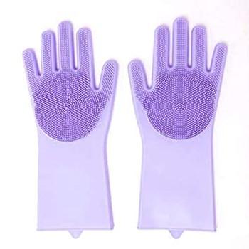 Silicone dishwashing gloves