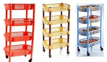 Plastic fruit and vegetable storage rack 114-266