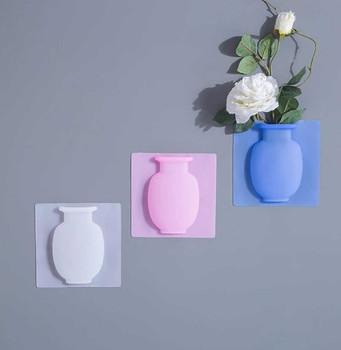 Vazo Silikoni per Lulet me Ngjitje ne Mur