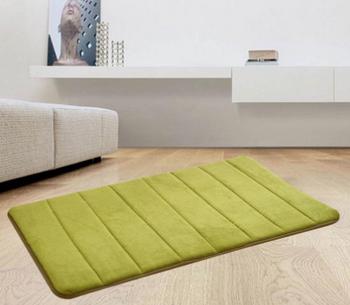 Coral velvet carpet