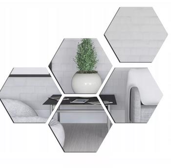 MEDIUM hexagonal mirror acrylic