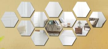 MINI SMALL Hexagonal Mirror Acrylic